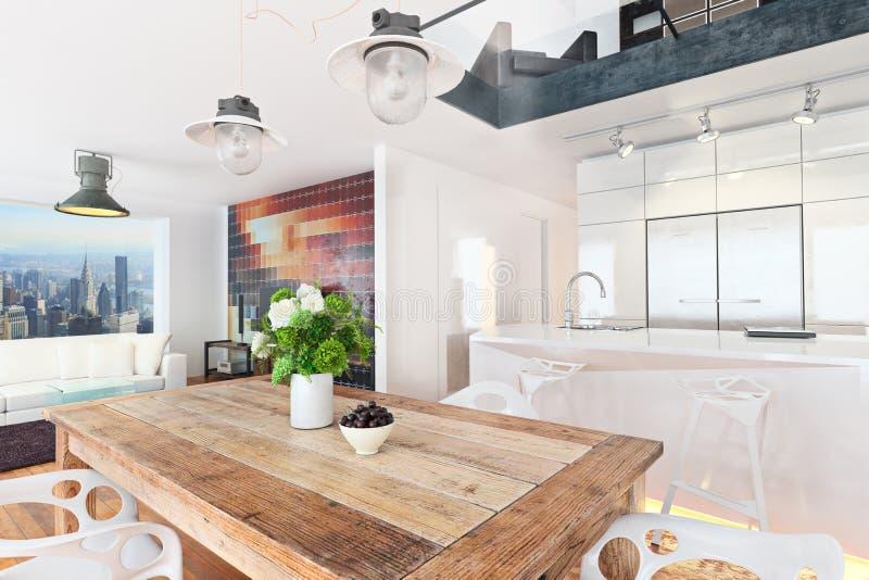 Condomínio contemporâneo do apartamento de highrise fotografia de stock