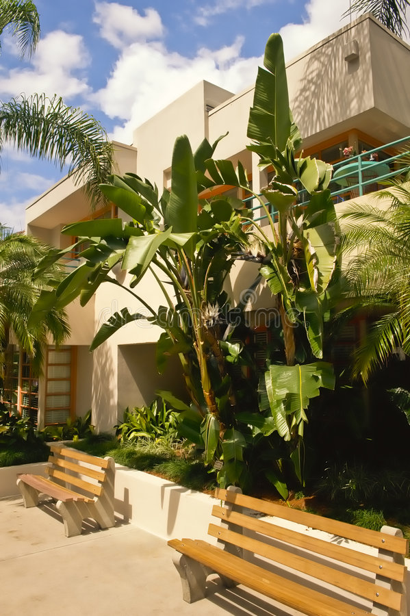 Condomínio tropical fotografia de stock