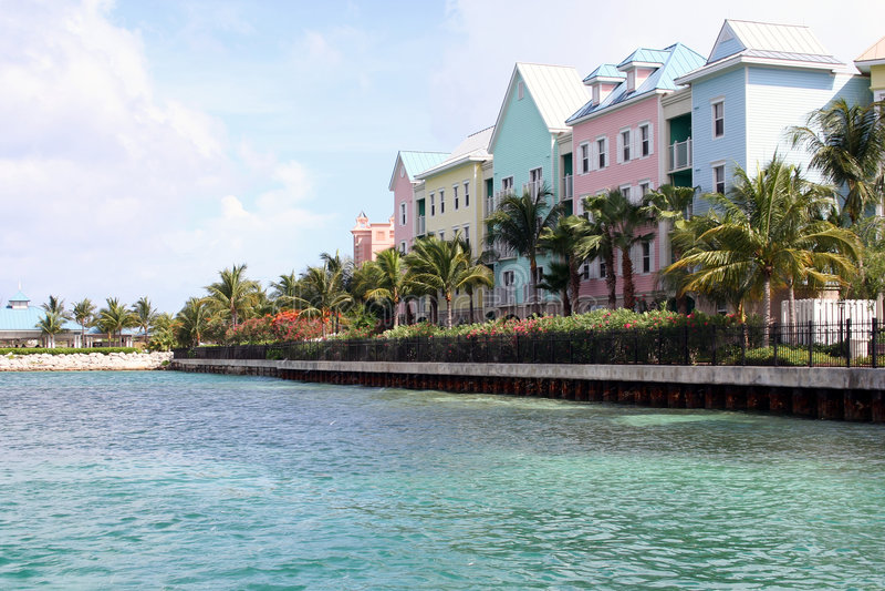 Condomínios do Oceanfront imagem de stock royalty free