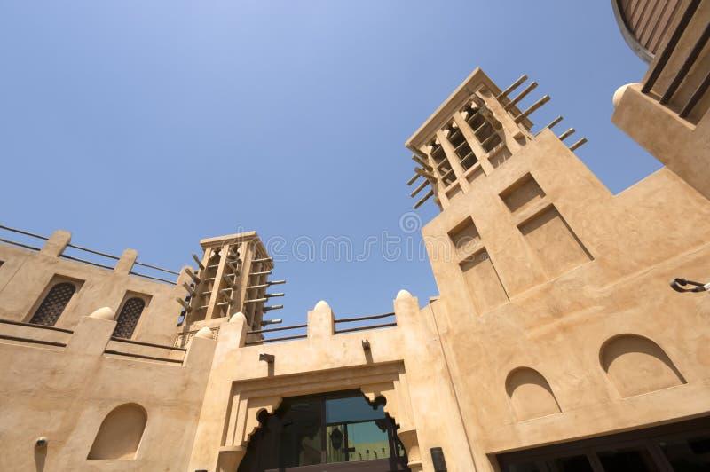 Condomínios velhos em Dubai Emiratos Árabes Unidos imagem de stock royalty free