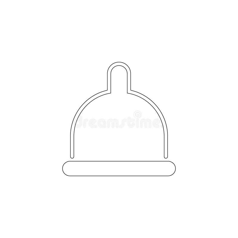condom Icona piana di vettore illustrazione di stock