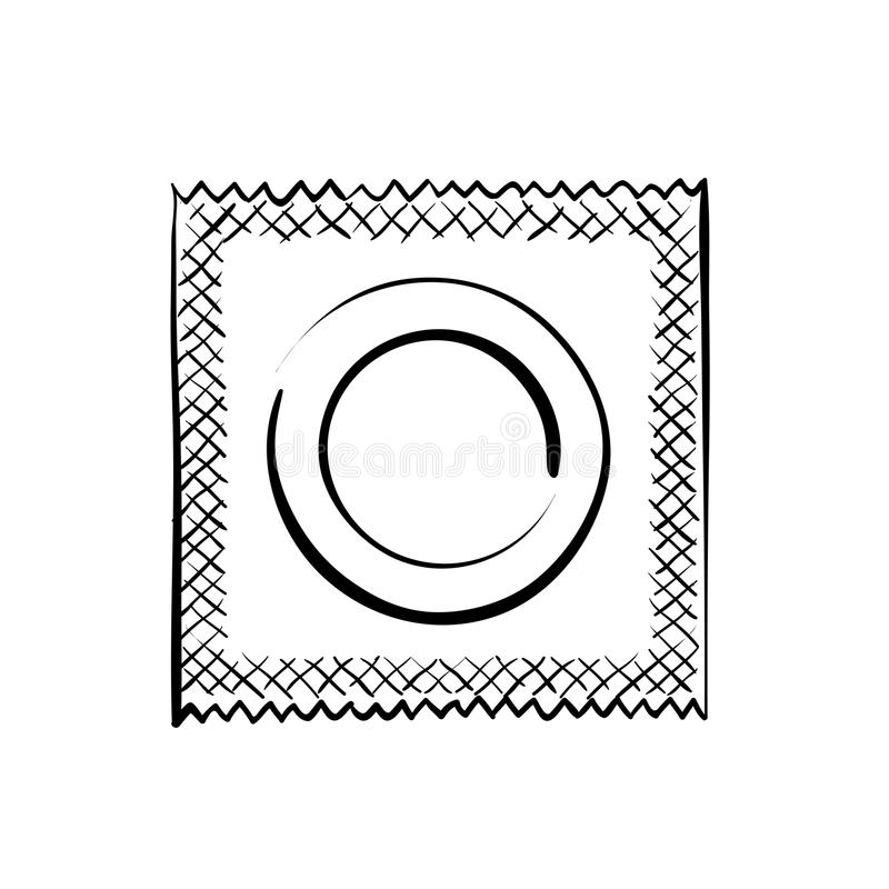 condom Ilustração conservada em estoque ilustração stock