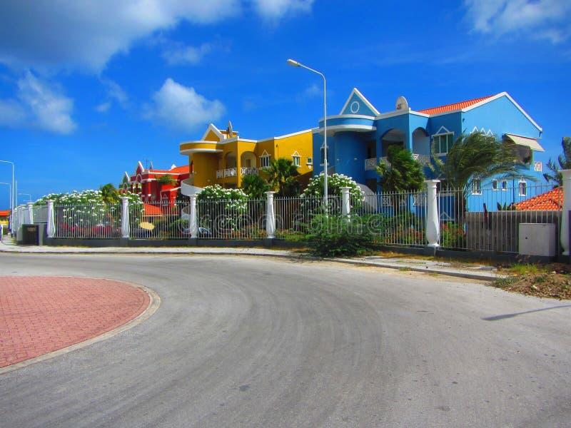 Condomini caraibici Curacao Antille olandesi fotografia stock