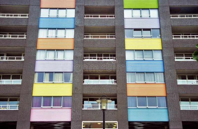 Condomini Colourful fotografie stock libere da diritti