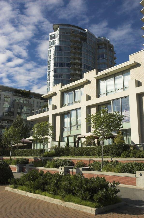 Condomini a Vancouver immagini stock libere da diritti