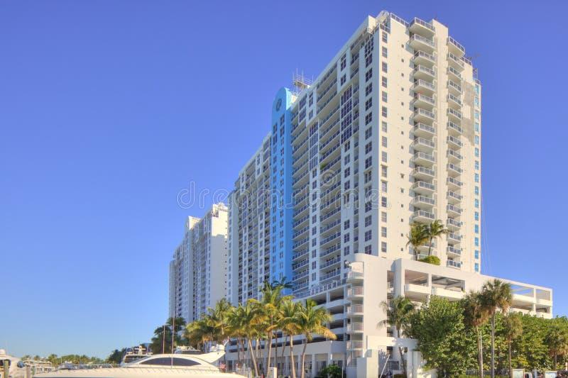 Condominio moderno di Miami fotografia stock