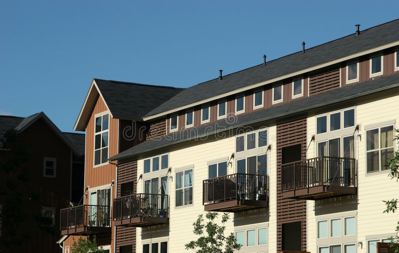 Condominios - construcciones de viviendas foto de archivo