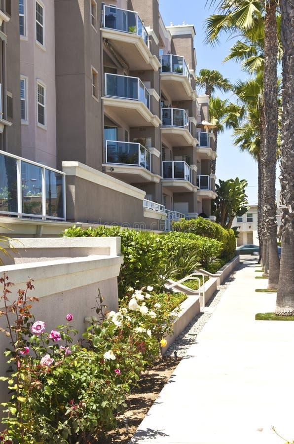 Condominios de Long Beach en California meridional. fotos de archivo libres de regalías