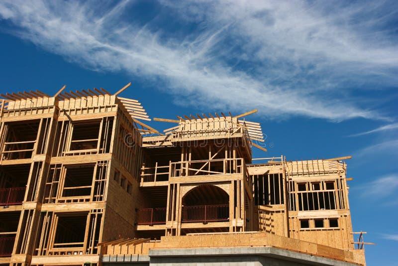 Condominium construction stock image