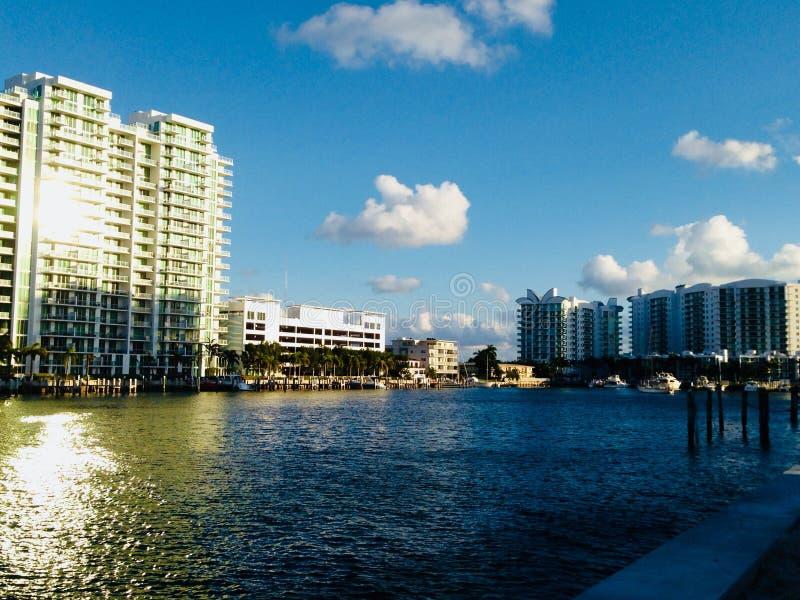 Condominium dans Miami Beach photos libres de droits