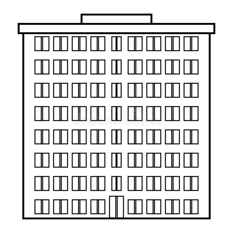Condominium icon. On white background vector illustration