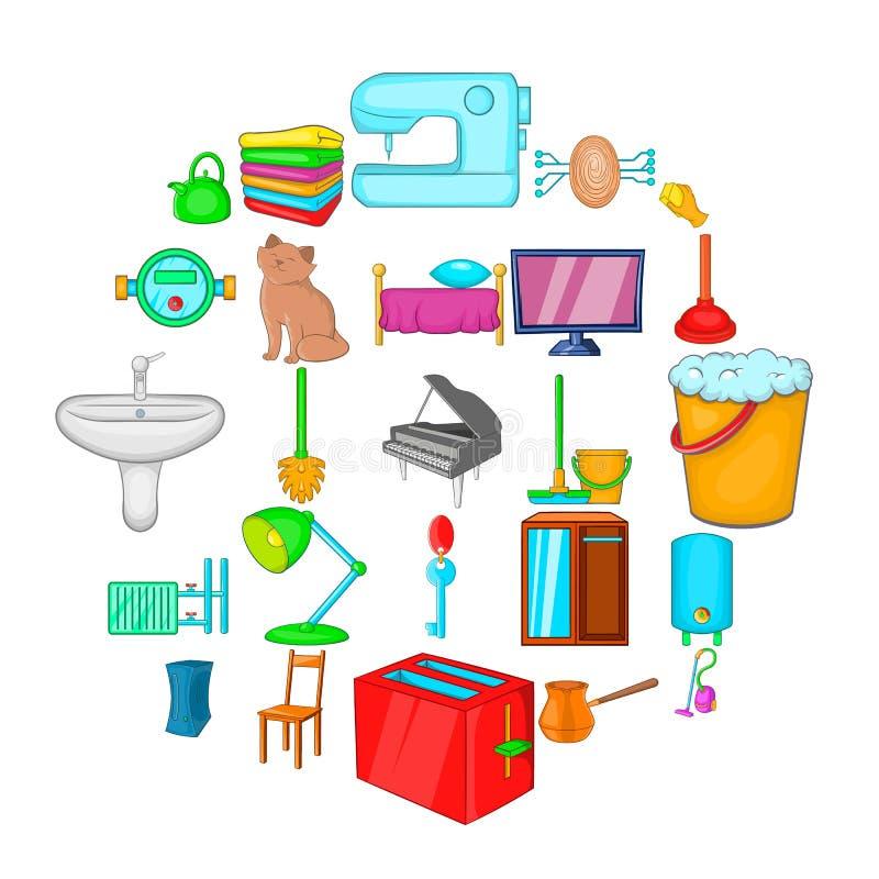 Condominium icons set, cartoon style. Condominium icons set. Cartoon set of 25 condominium vector icons for web isolated on white background vector illustration