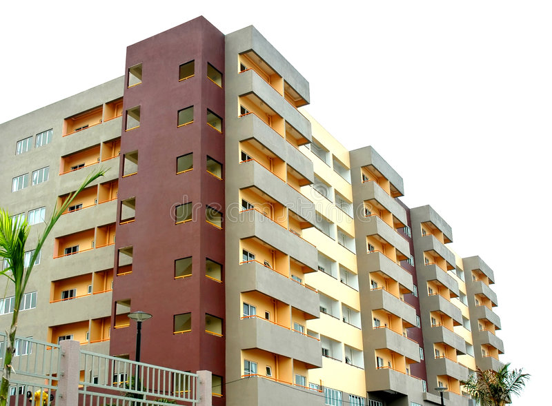 Condominium neuf coloré photographie stock libre de droits