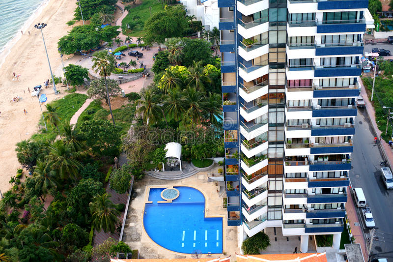 Condominium in Pattaya. stock photo