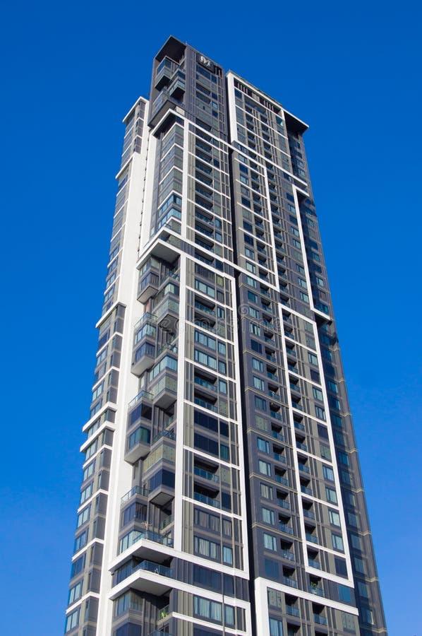 Condominium into the sky stock photos