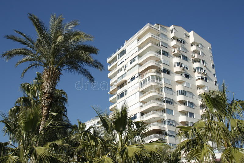 Condominium at tropics stock photos