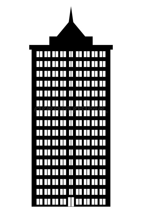 Condominium. On white background. Illustration vector illustration
