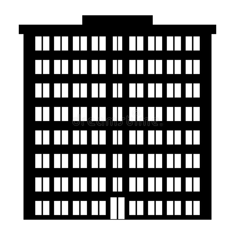 Condominium. On white background. Illustration royalty free illustration