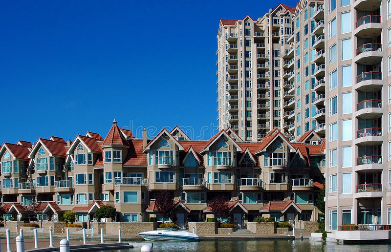 Download Condominiums in Kelowna stock photo. Image of architecture - 12991662