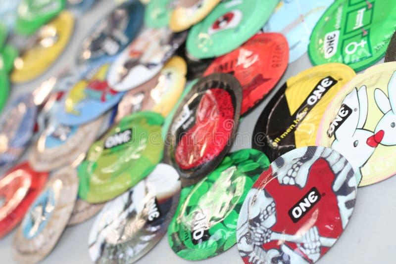 condoms stock foto's