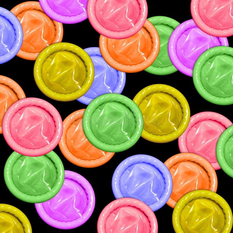 Condoms de couleur illustration libre de droits