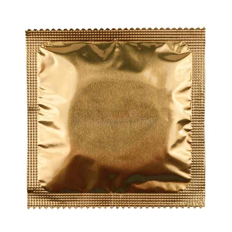 Condoms in packaging isolated on a white background, the concept of contraception and prevention of sexually transmitted diseases, royalty free stock images