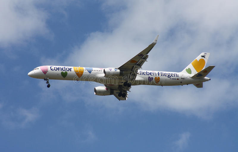 Condor airline Boeing 757 royalty free stock photo