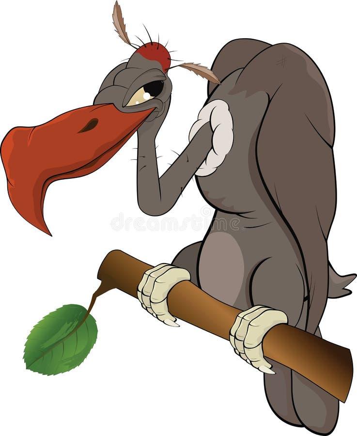 Condor americano uma águia. Desenhos animados ilustração stock