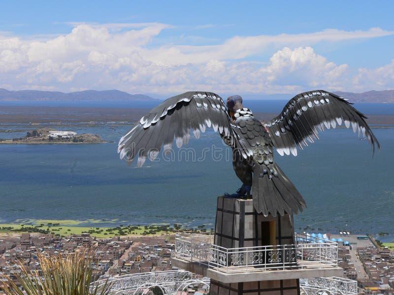 Condor's view over Puno stock image