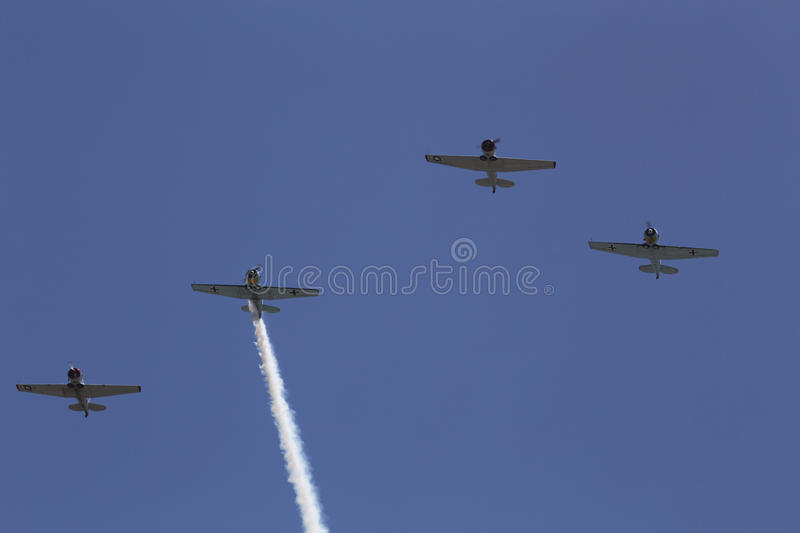 Condor Squadron flyover, Los Angeles National Cemetery Annual Memorial Event, May 26, 2014, California, USA stock images