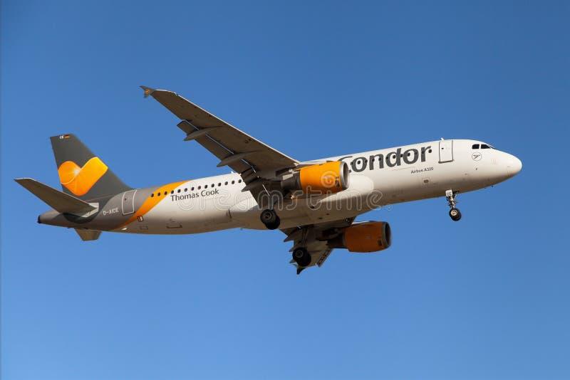 Condor Thomas Cook Airbus A320 fotografia stock libera da diritti