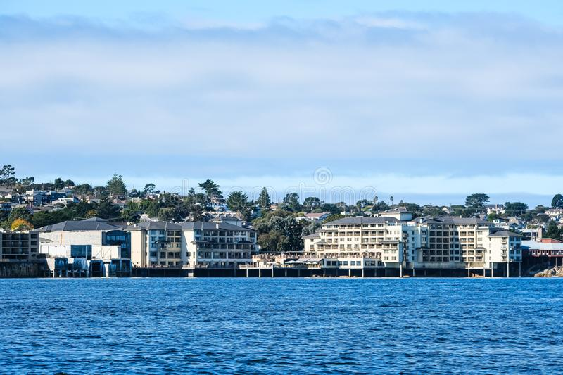 Condos on Monterey Coast stock foto
