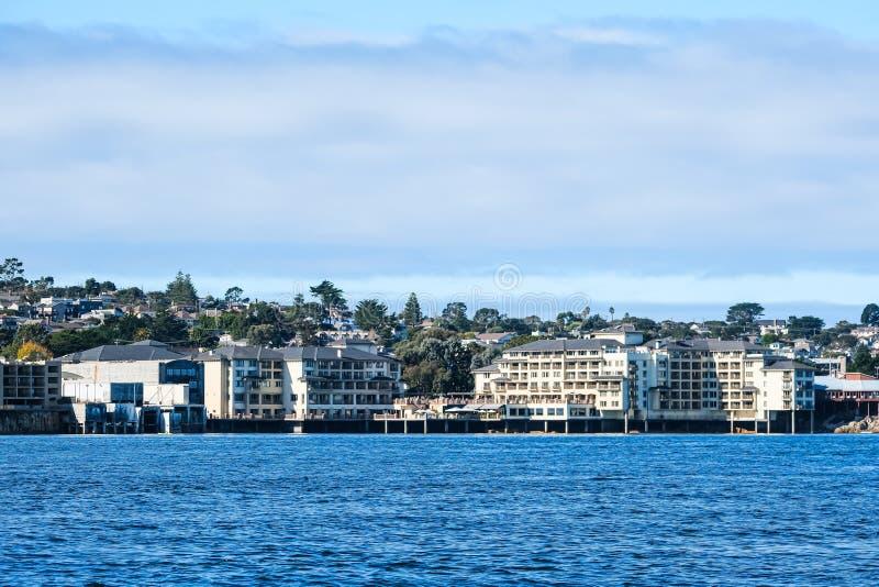 Condos na wybrzeżu Monterey zdjęcie stock