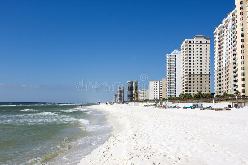 Condos On Perdido Key, Florida. Condos stretch along the coast at Perdido Key, Florida stock image