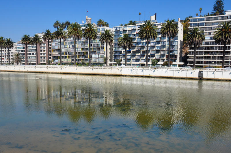 Condos at Vina del Mar, Chile.  stock photo