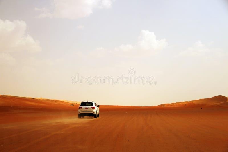 Condução através do deserto imagem de stock royalty free