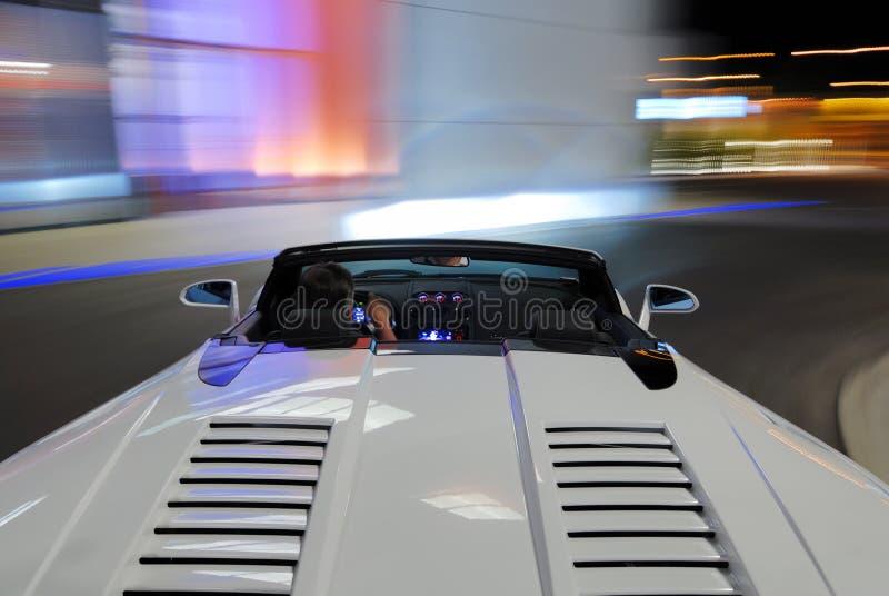 Condução de Lamborghini Spyder fotos de stock royalty free