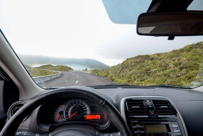 Condução em Açores foto de stock