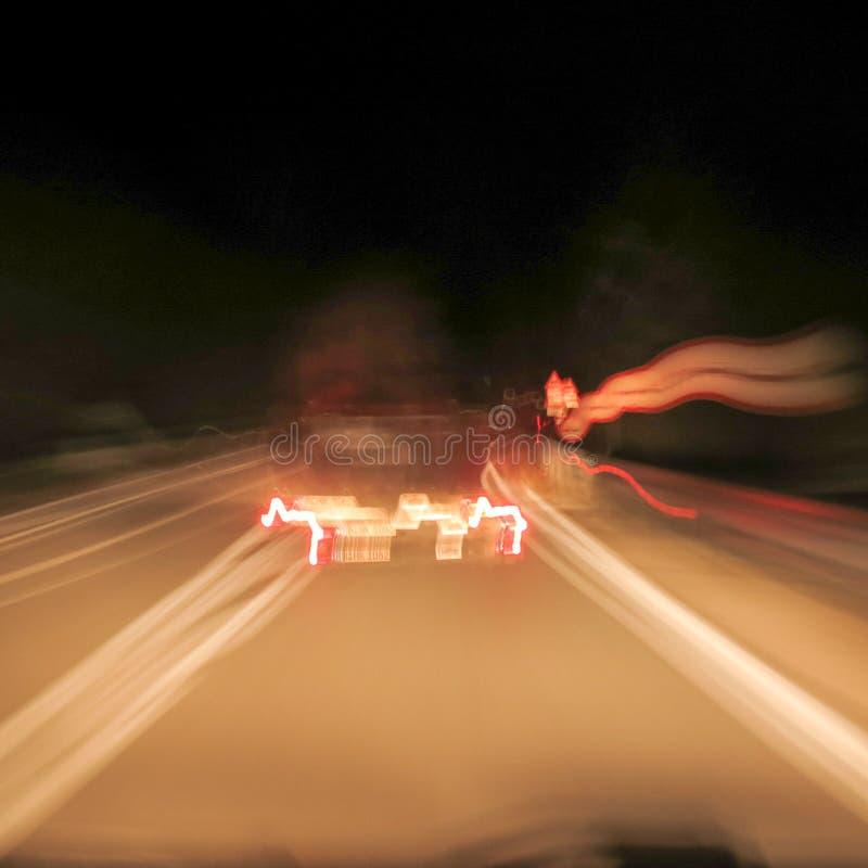 Condução em condições alcoólicas fotografia de stock royalty free
