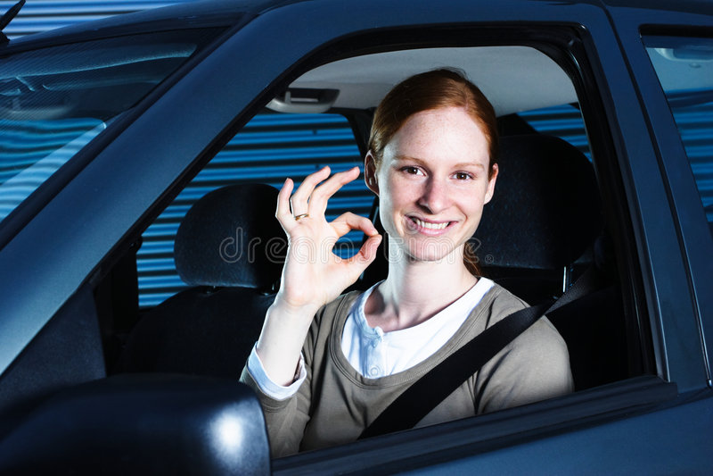 Condução perfeita ou carro foto de stock