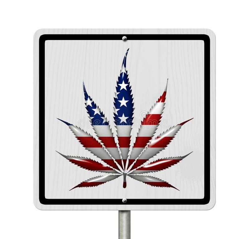Condução sob a influência da marijuana ilustração stock
