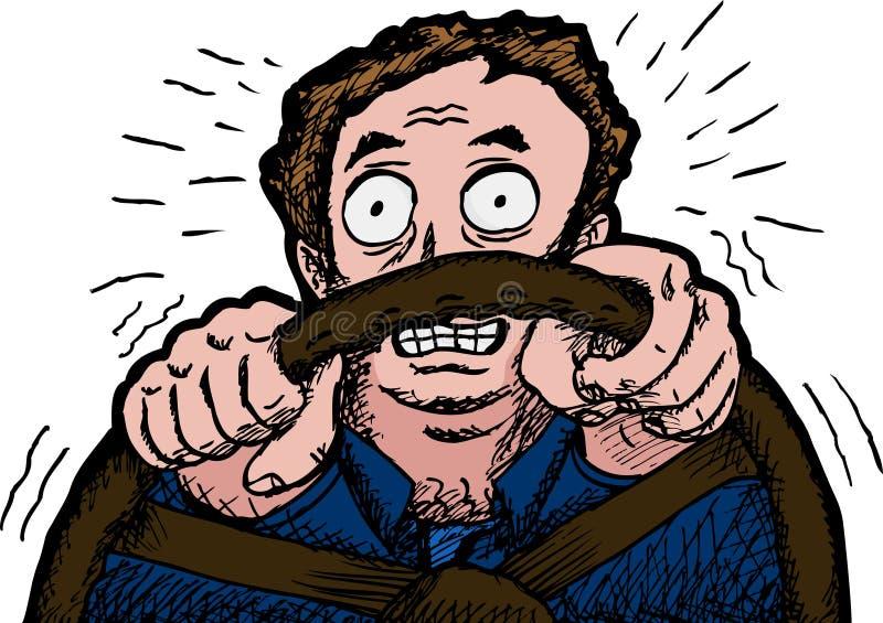 Conducción asustada del hombre libre illustration