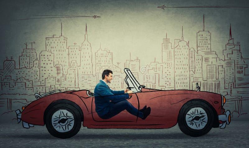 Conducción de automóviles imaginaria imagen de archivo