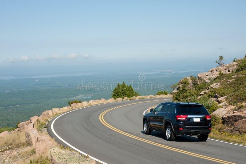 Conducción de la montaña de Cadillac foto de archivo