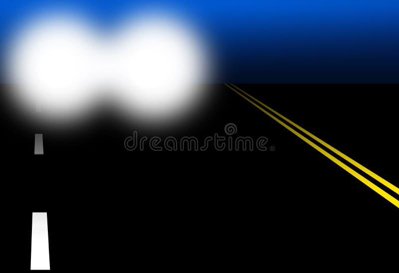 Conducción de la noche stock de ilustración