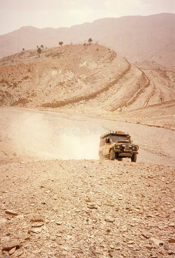 Conducción del desierto imagen de archivo libre de regalías