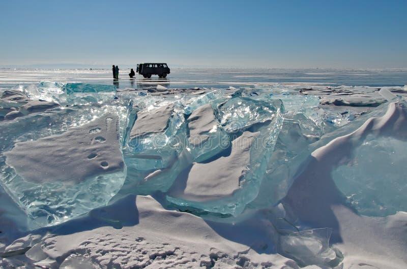 Conducción en el lago Baikal foto de archivo libre de regalías