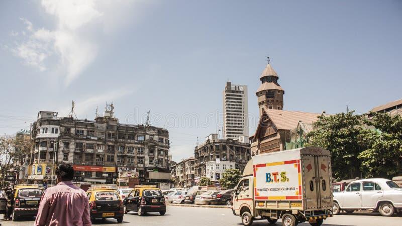 """Conducción en las calles de Bombay cerca del  de Market†del """"Crawford fotos de archivo"""