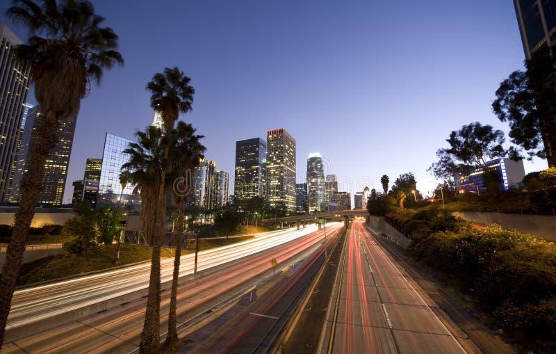 Conducción a través de Los Ángeles imagen de archivo libre de regalías