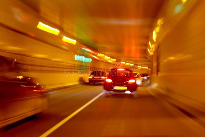 Conducción a través del túnel imagen de archivo